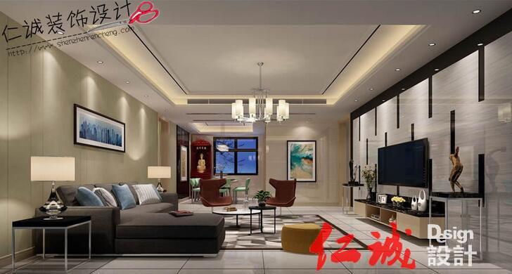 深圳公明现代风格客厅装修效果图