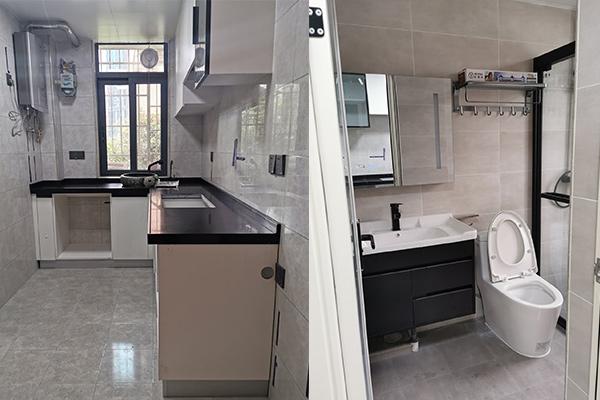 深圳旧房翻新设计厨房和卫生间效果图