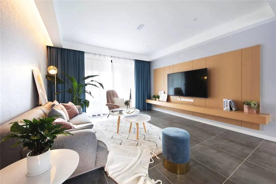 武汉装修方案清新北欧3室2厅,轻松而美好的舒适生活
