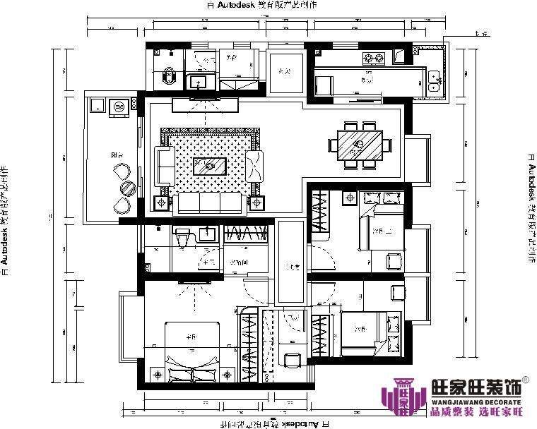 澳门装潢案例九龙湖华南城简约性状style套房