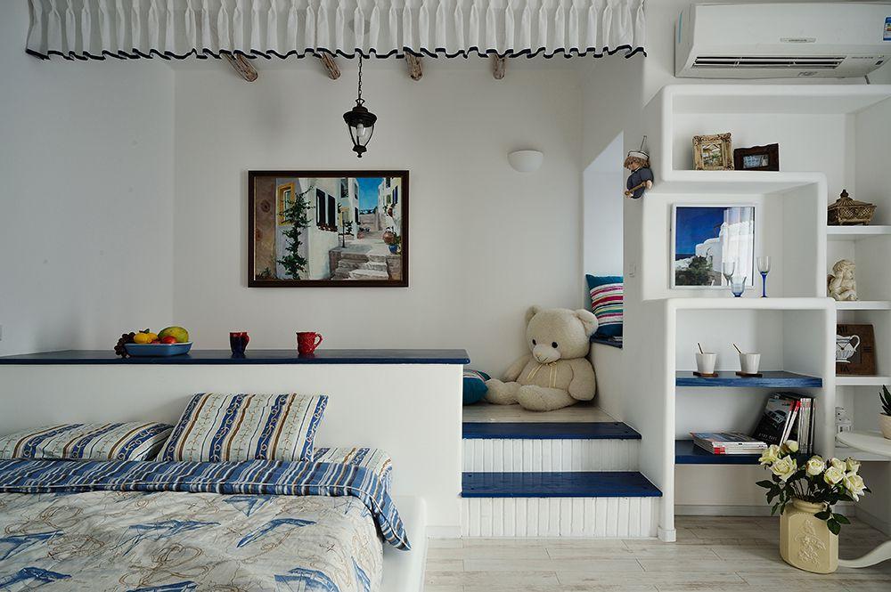 聯泰天悅2棟88平地中海風格設計實景案例效果圖