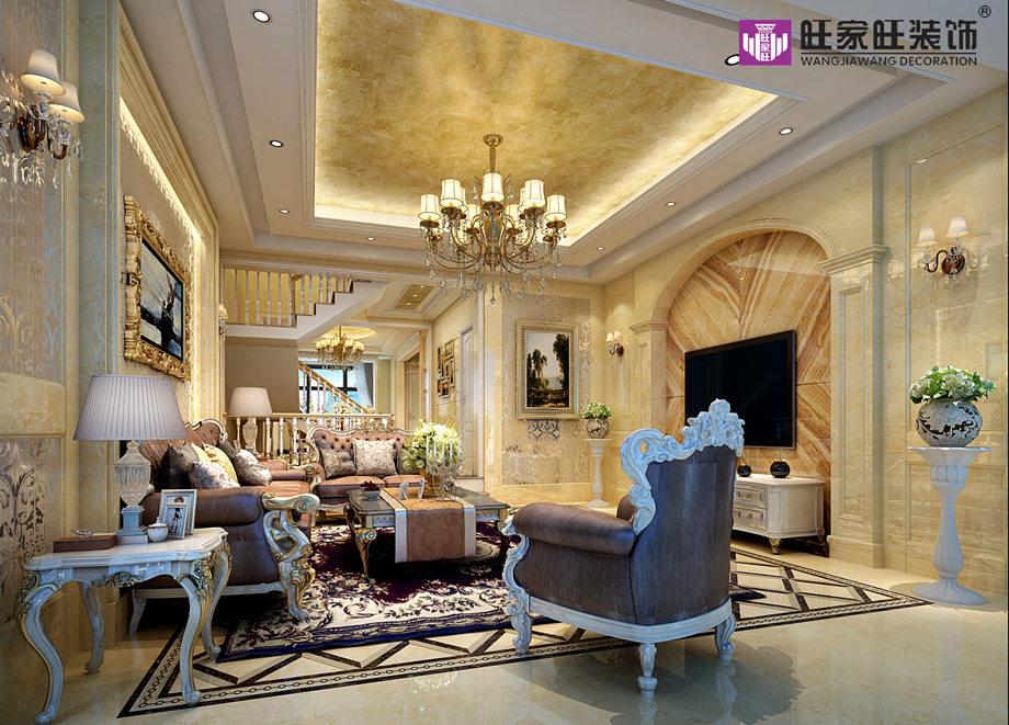 别墅装潢大厅法兰西风格灯器决定技巧