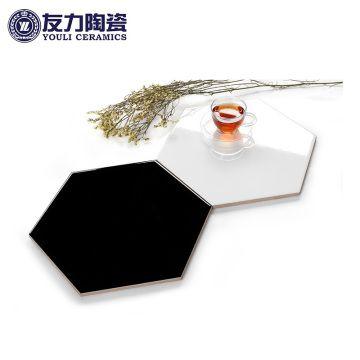 南昌 友力陶瓷 六邊形黑白系 MF3L2604 (黑色)