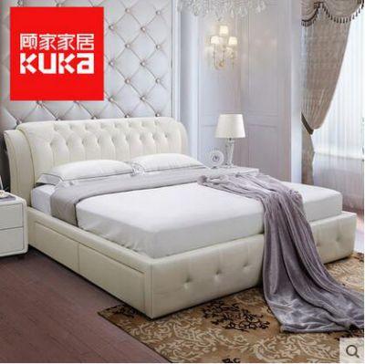 渭南裝修材料顧家家居歐式現代雙人床