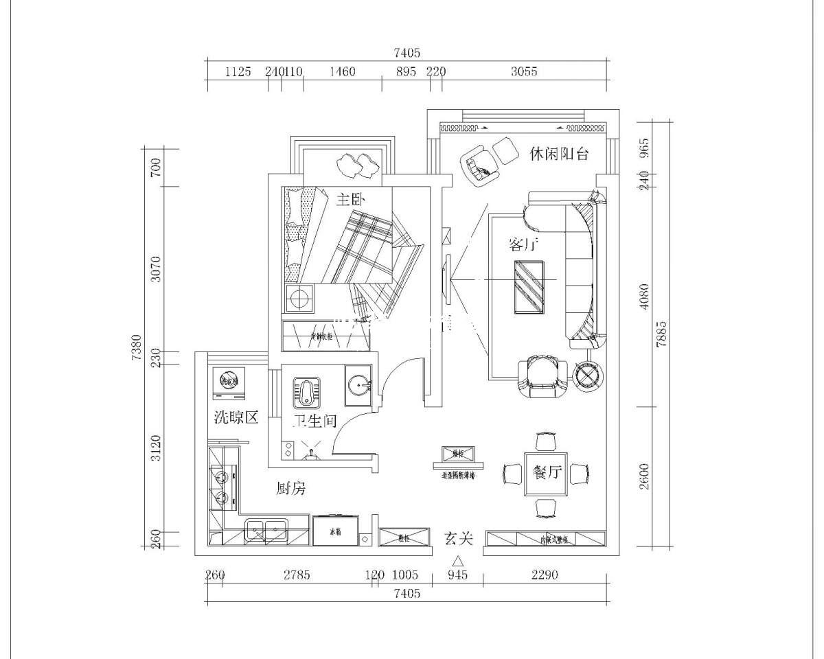 金澜湾C户型设计方案赏析