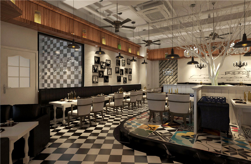 西昌西餐厅装修设计效果图
