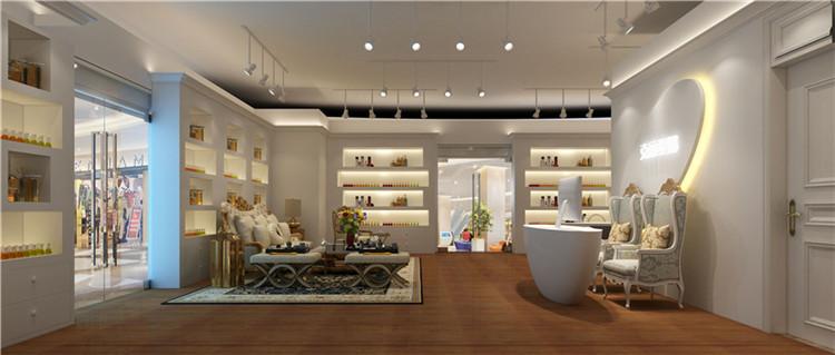 西昌化妆品店装修效果图,美容院设计案例