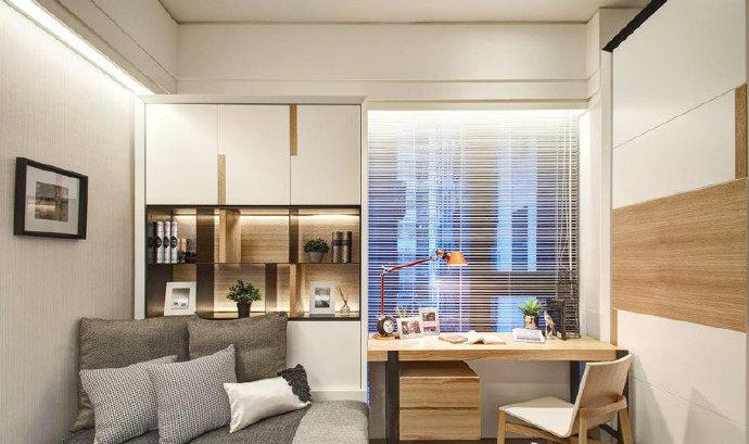 陕西西安装修案例现代简约单身公寓 