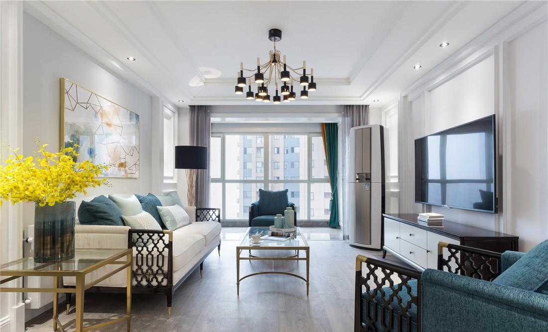 126m2轻奢美式3室2厅,优雅与舒适的典范之家
