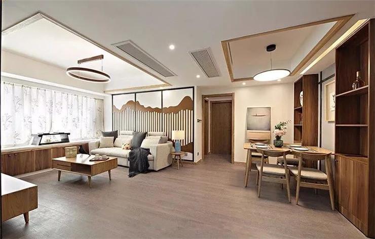 89平新中式三居,简单又有韵味,超喜欢沙发背景墙!