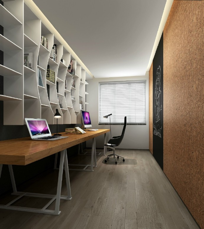 陕西西安装修案例清新自然高级灰居住空间