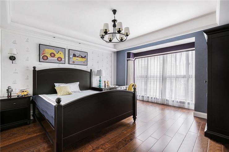 陕西西安装修案例美式轻奢四居室