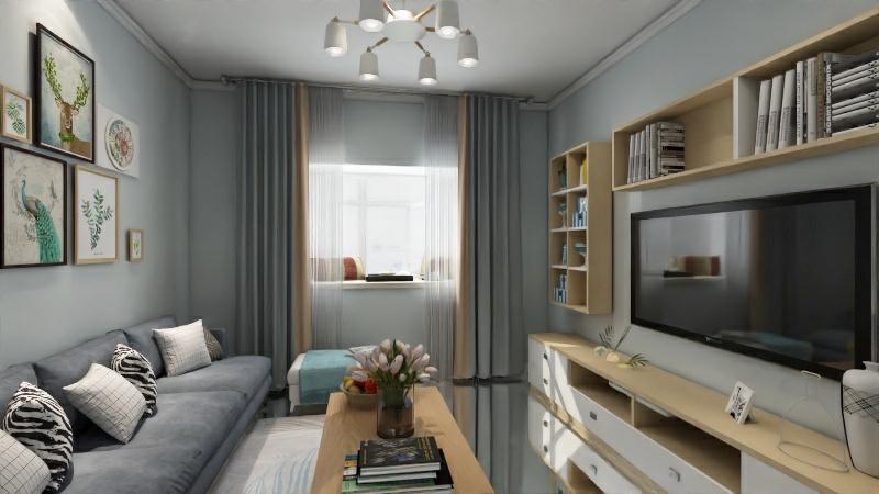 【轻舟装饰】 家庭装修案例,乌鲁木齐两居室家庭装修效果图赏析
