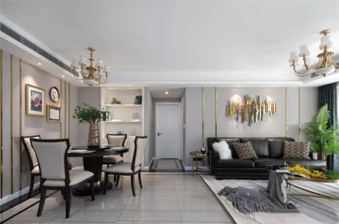【轻舟装饰】美式风格三居室家装案例赏析