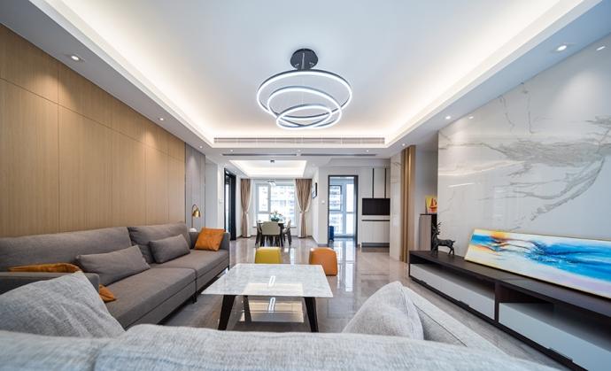 【輕舟裝飾】現代簡約風格三居室家裝裝修效果圖