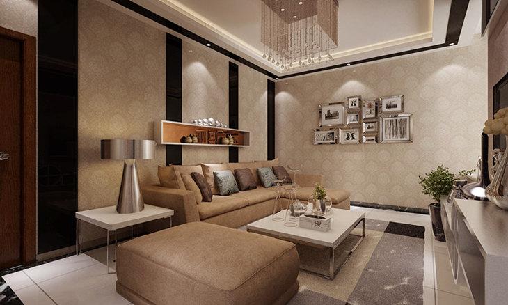 【轻舟装饰】后现代家装风格 三居室装修案例效果图