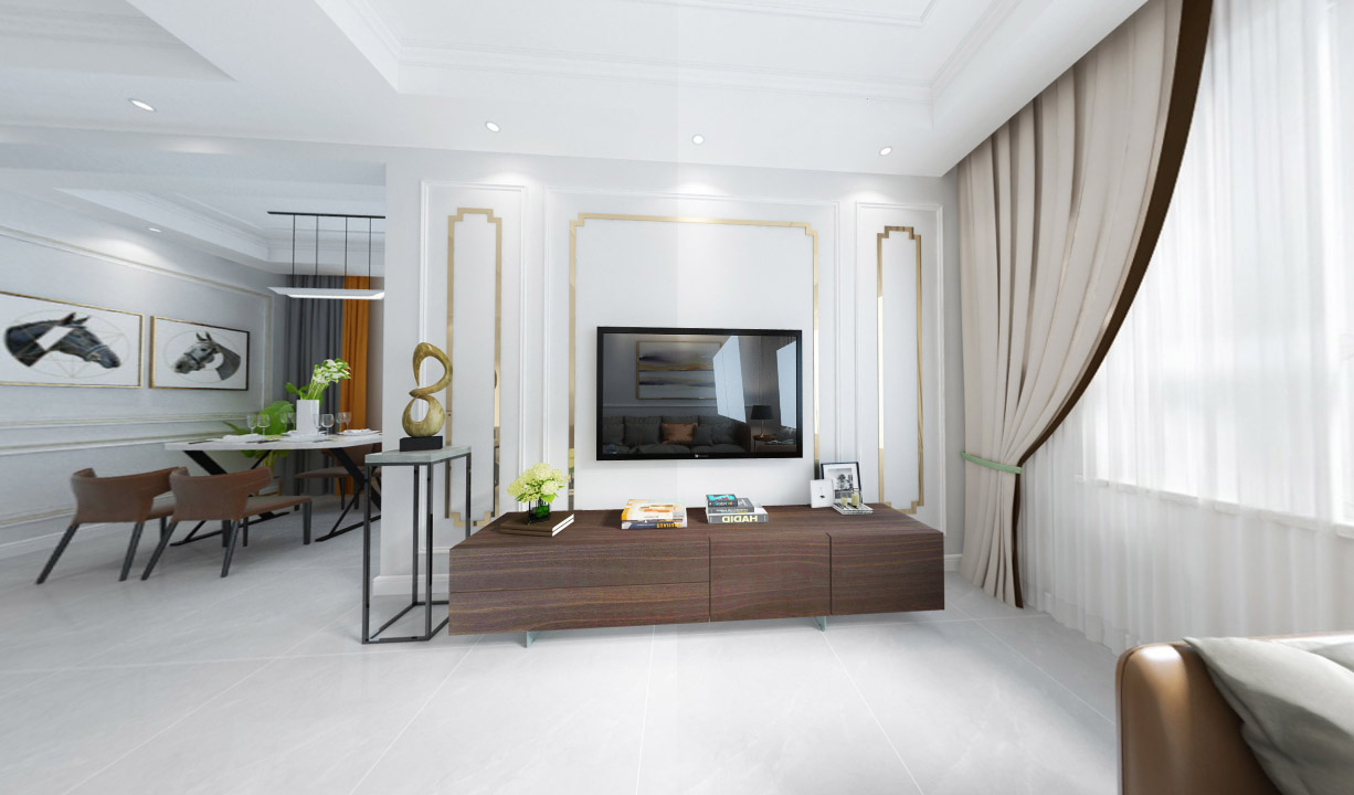 2021年乌鲁木齐现代简约三居室全景家装样板间