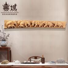 泰域 東南亞整木浮雕大象壁飾泰式家裝 泰國進口墻上軟裝飾品會所客廳壁掛