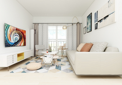 以白色为主色调,设计最流行的北欧风格