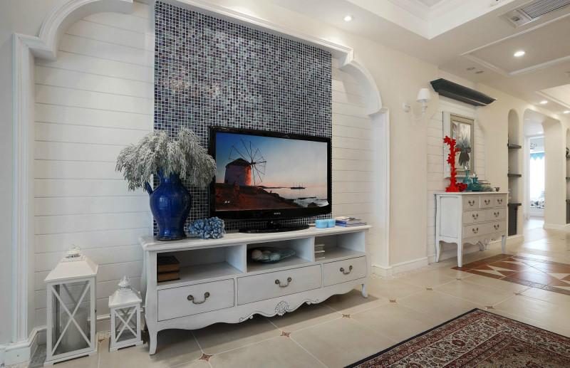 地中海风格三居室装修案例,104平米的房子装修多少钱?-海伦春天装修