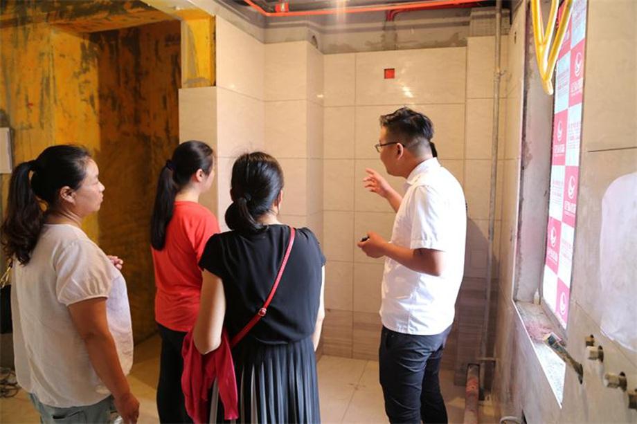 亿弘装饰工地文化节带业主免费参观工地,学习装修