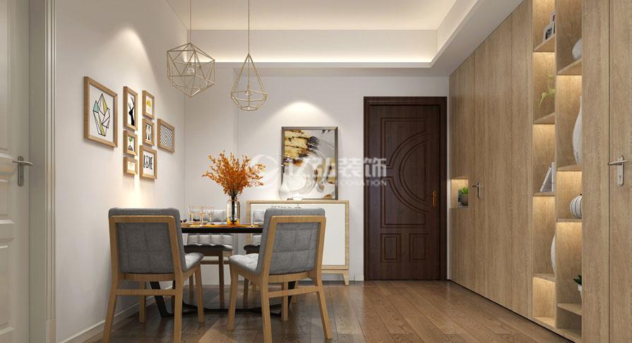 普鑫上东郡104㎡两室两厅现代风格装修效果图