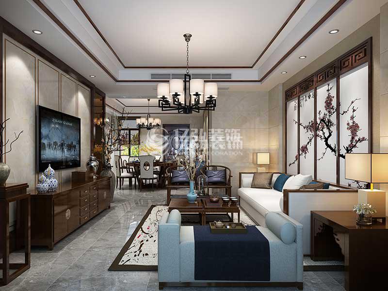 襄阳山水华府139平米三室两厅中式装修风格气质雅居,稳重精致有韵味!