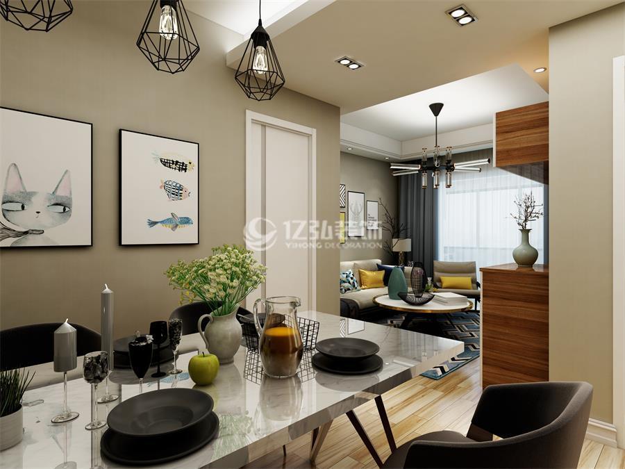 襄阳融侨城二期融侨锦江80平米两室两厅现代简约风格装修案例