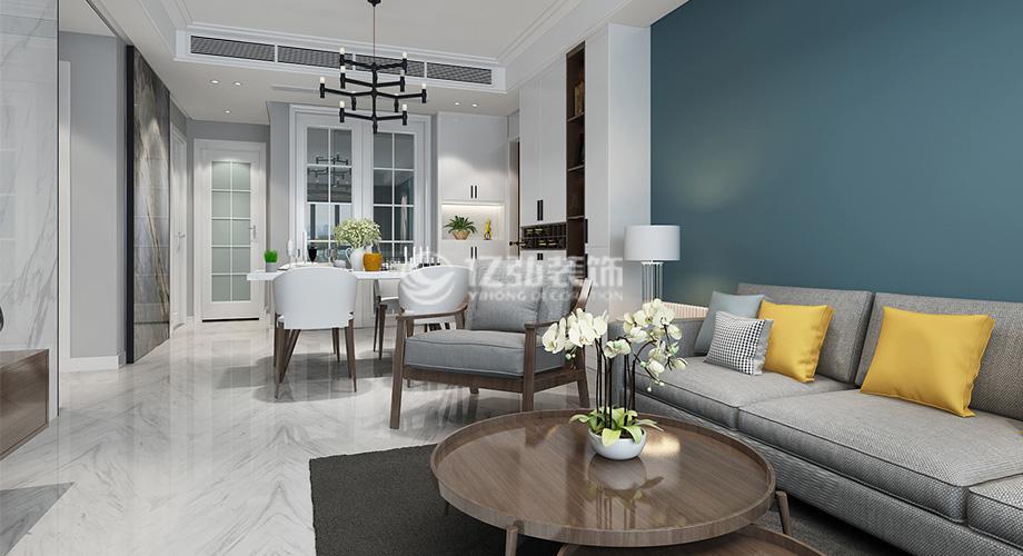 汉水华城128平米三室两厅现代轻奢风格装修案例,精致高端有态度!