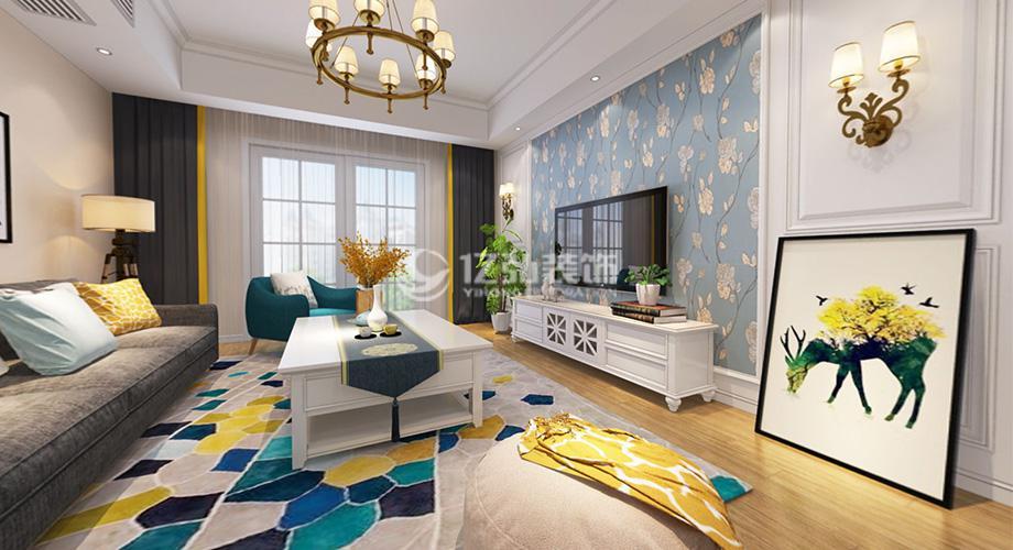 汉水华城132平米三室两厅简美风格装修案例,宁静自然,雅致浪漫!