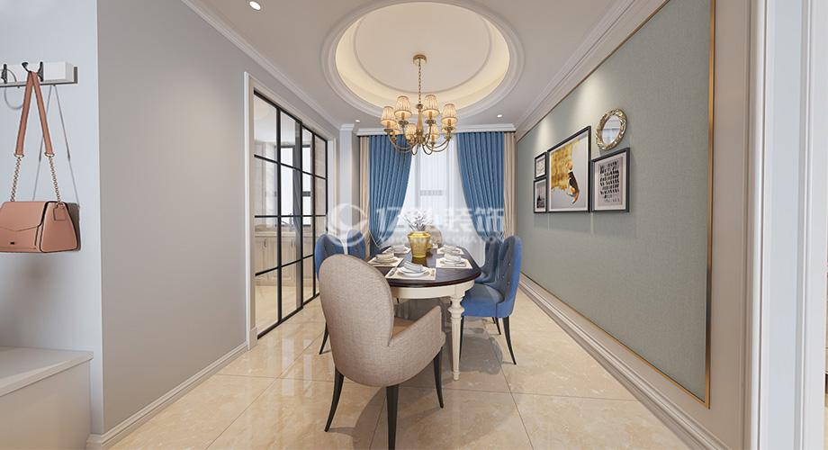 襄阳汉水华城157平米四室两厅美式风格装修案例,华丽优雅,气质非凡!