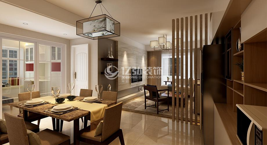 襄阳九街十八巷110平米三室两厅新中式风格装修,温馨舒适,雅韵十足!