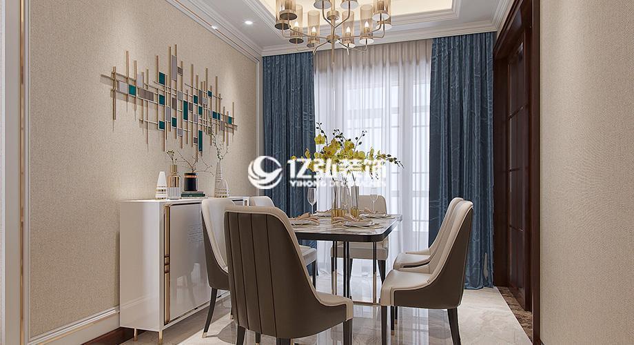东津世纪城117平米三室两厅现代风格装修,简约不失时尚的艺术格调!