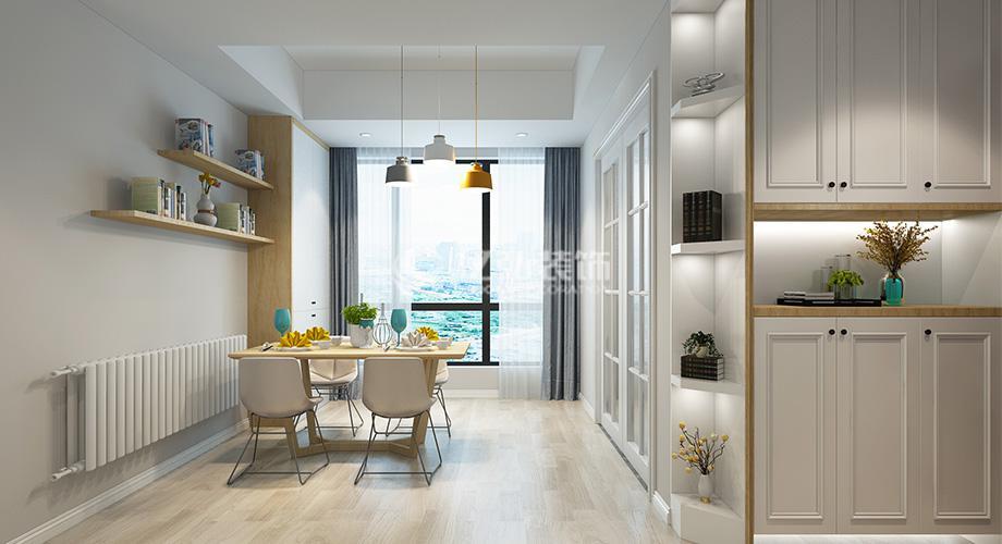 襄阳装修案例襄阳东津世纪城122平米三室两厅北欧风格装修案例,简单时尚有内涵!