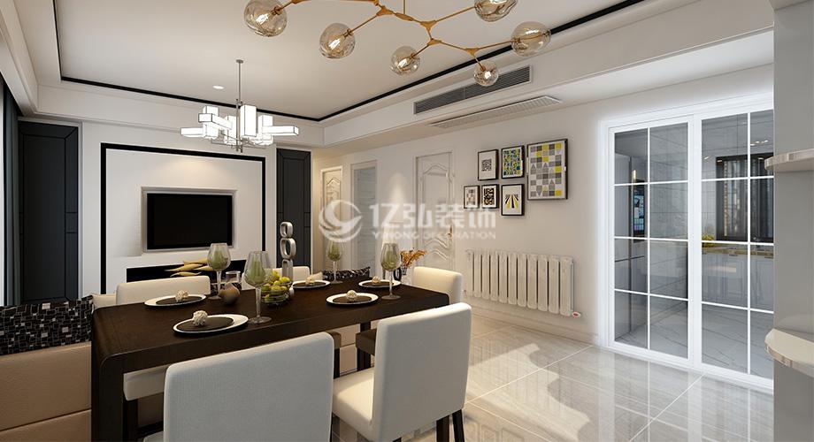 襄阳东津世纪城127平米三室两厅现代简约装修,打造时尚温馨家居!