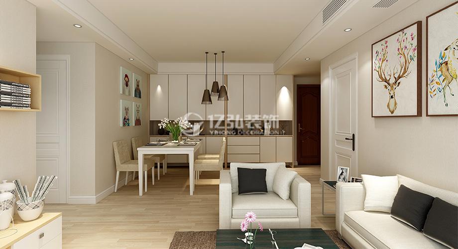 襄阳国色天襄124平米三室两厅现代简约风格装修,简单实用,舒适大方!