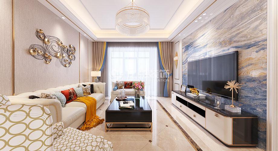 襄阳绿地三期120平米简欧风格装修案例,简单淡雅,清新优雅!