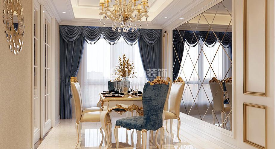 襄阳东津世纪城117平米欧式风格装修,高贵优雅,奢华浪漫!