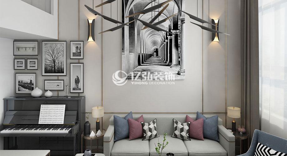 玉龙湾80平米复式楼装修,打造高档质感美家!