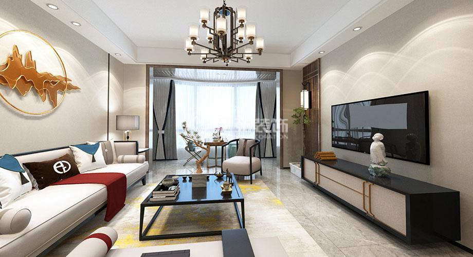 襄阳 汉江国际135平米新中式风格装修,时尚优雅,意韵十足!
