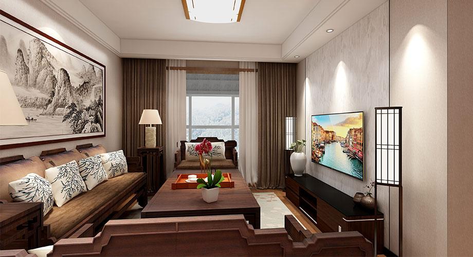 襄阳九街十八巷106平米现代中式风格装修,质朴内敛,庄重雅致!