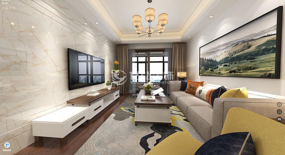 襄阳九街十八巷125平米现代简约风格装修,优雅清净,质感十足!