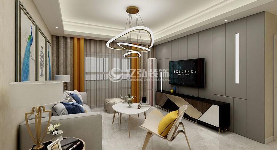 东津世纪城117平米三室两厅现代简约风格装修案例,化繁为简,回归生活本质!