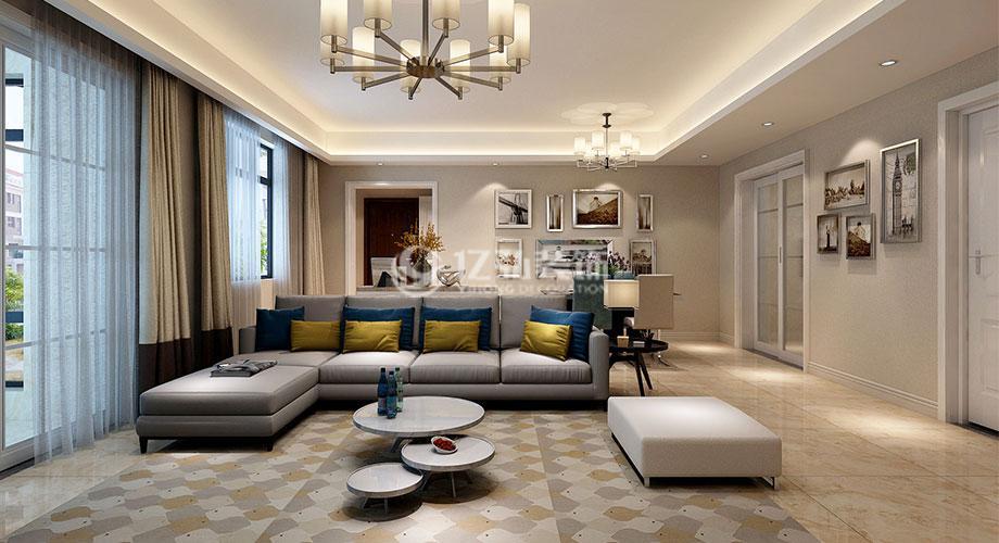 襄阳东津世纪城127平米现代简约设计,家就该这样精致舒适!
