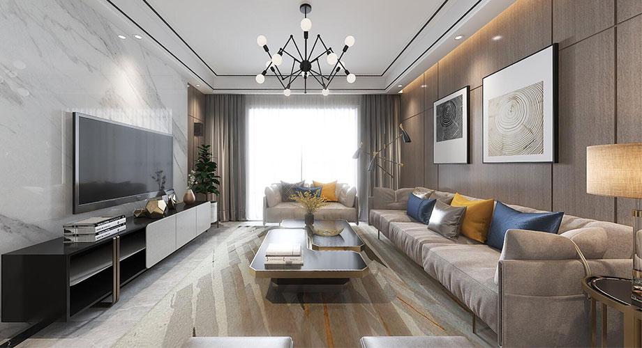 襄阳东津世纪城130平米现代风格装修案例,纯净与极简的相遇!