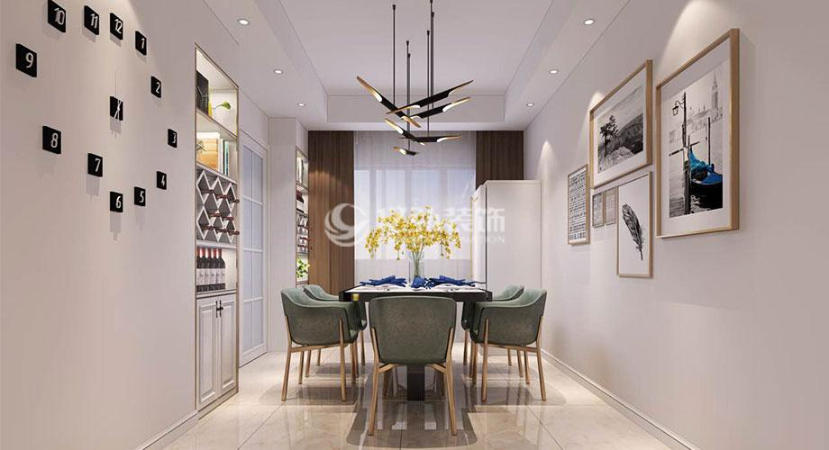 襄阳东津世纪城117平米现代简约三室,用简单线条勾勒时尚前卫家!