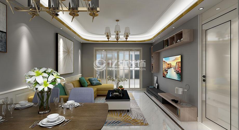 汉水华城130平米现代风格三居室,时尚轻奢有品位!