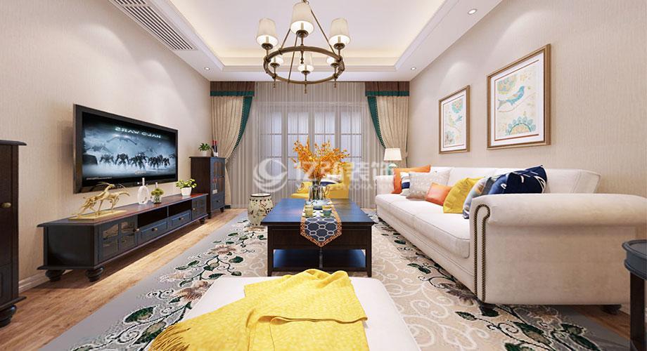 襄阳汉水华城151平米简美风格装修案例,简洁实用,内敛优雅!