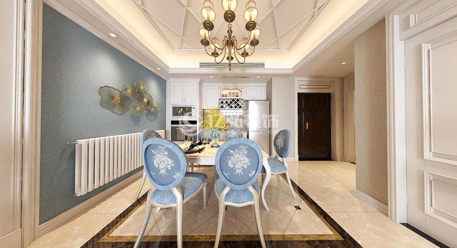 襄阳装修案例汉水华城134平米简欧风格装修,清新柔和,雅致烂漫!