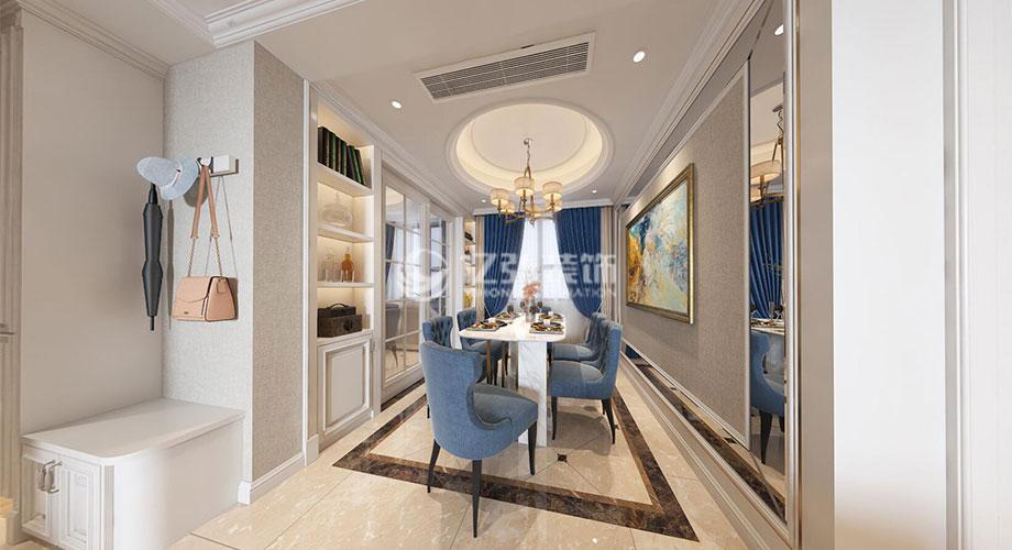 襄阳汉水华城150平米欧式风格装修案例,返璞归真,自然浪漫!